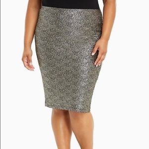 Dresses & Skirts - Metallic Pencil Skirt